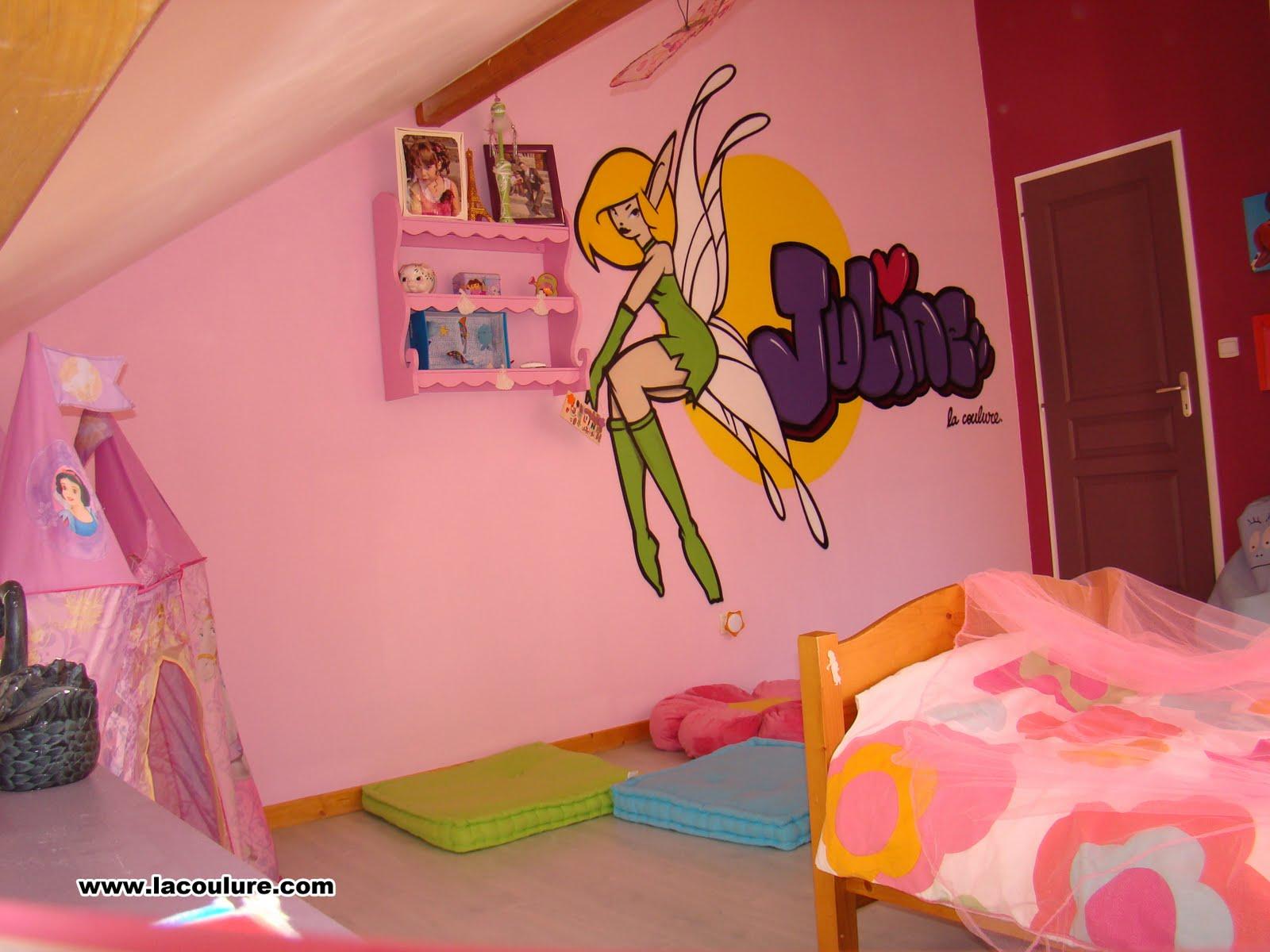"""collectif La Coulure graffiti lyon chambre d enfant """"fée"""""""