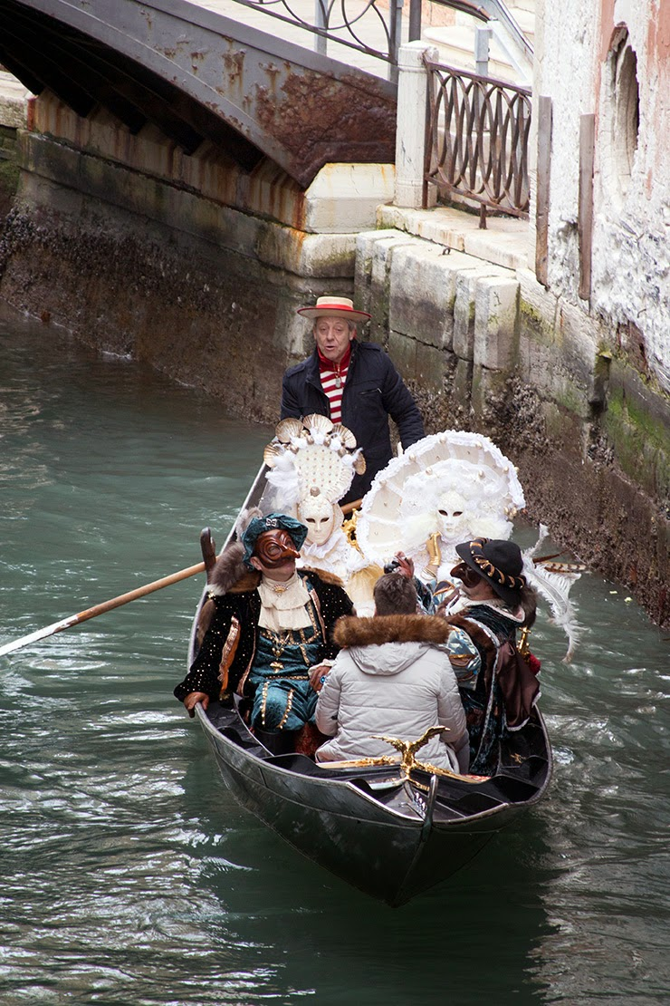 a typical gondola during carnival