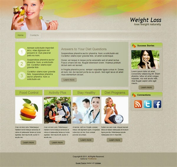 Weight Loss - Free Drupal Theme