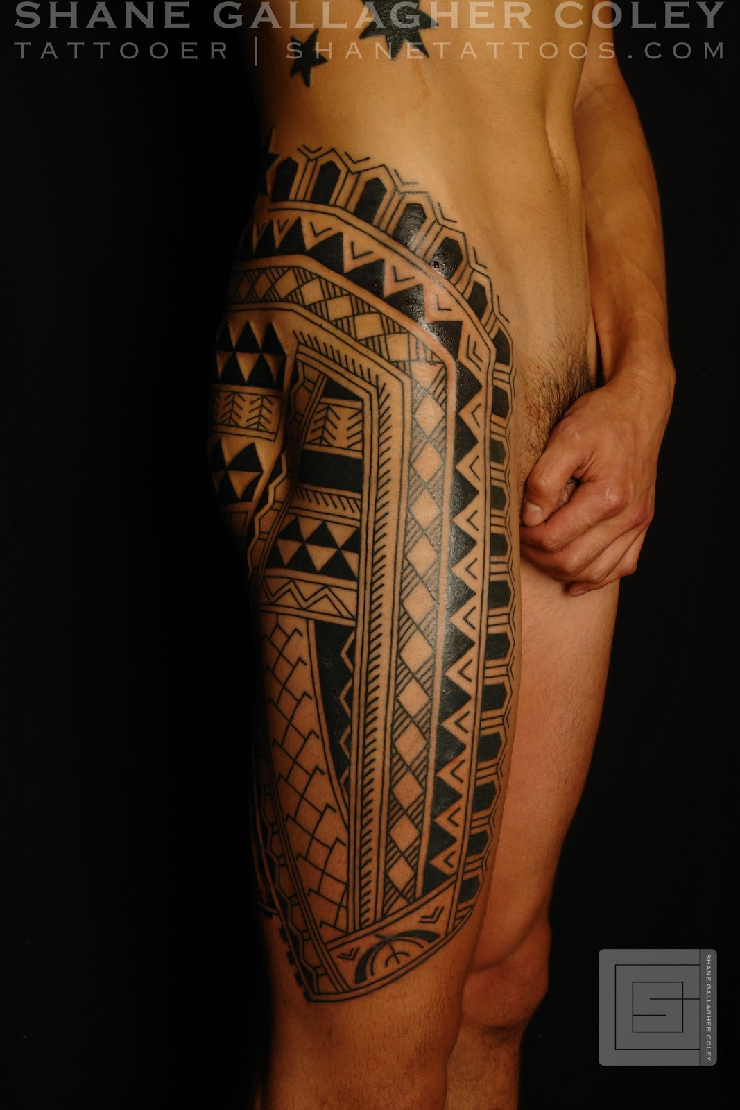 MAORI POLYNESIAN TATTOO: Filipino Leg Tattoo
