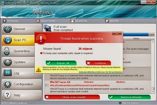 Simplest Way To Remove Vista Antivirus 2014 ~ Win Security Threats Removal