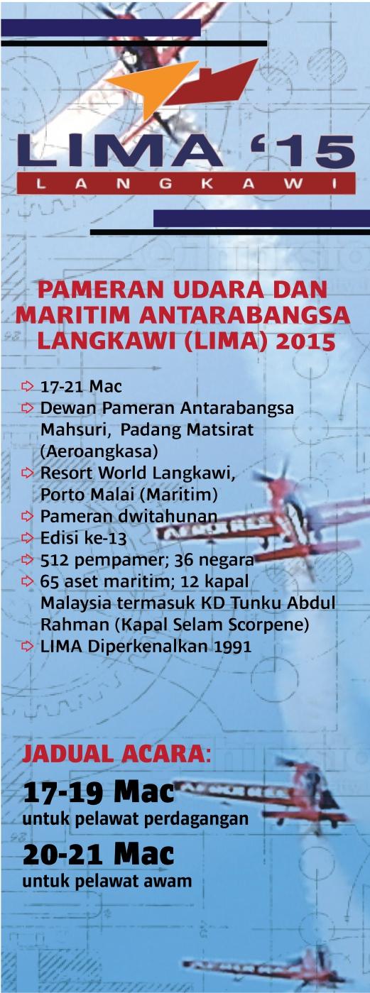 Tarikh Pameran LIMA 2015 Langkawi