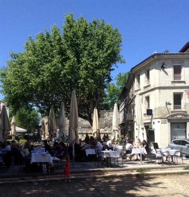 street scene in Avignon, France