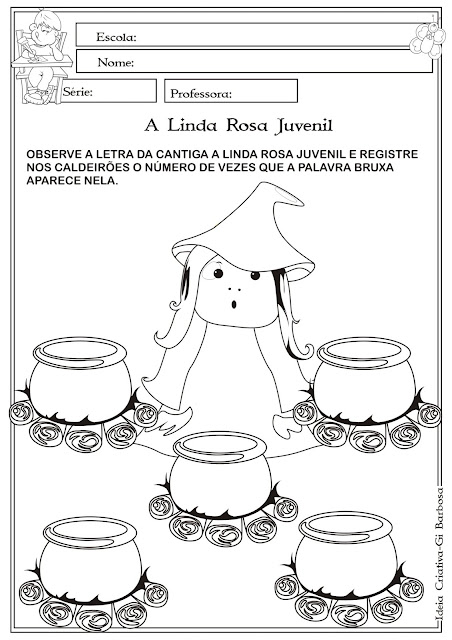 Atividade Matemática A Linda Rosa Juvenil