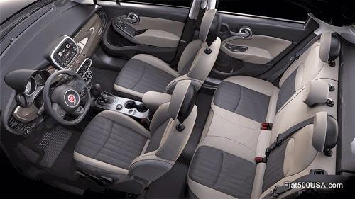 Fiat 500X Lounge Interior