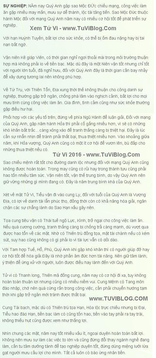 Tu Vi 2016 Canh Ngo Nam Mang