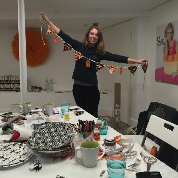Bloggeration workshop halloween bunting