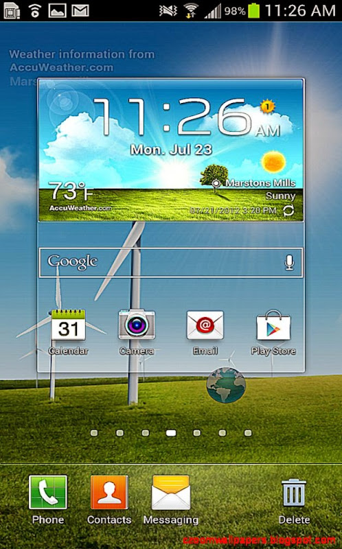 How to replace icons on the Home screen dock on the Galaxy S3