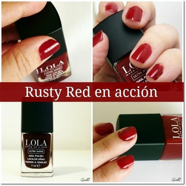 Esmalte de uñas Rusty Red de LOLA Make Up