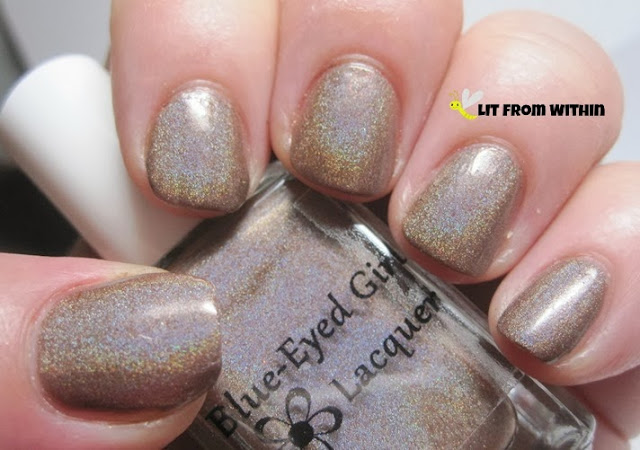 Blue-Eyed Girl Lacquers I'm Going Through Some...Changes, a milk-chocolate brown holo.