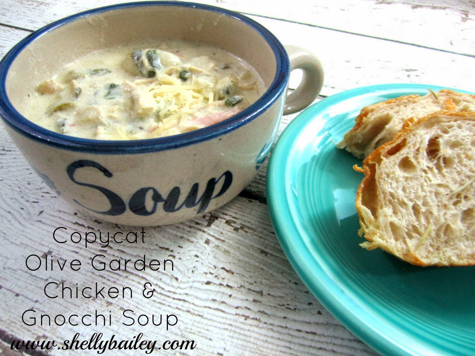 Shelly Bailey Recipe Share For Copycat Olive Garden Chicken And Gnocchi Soup