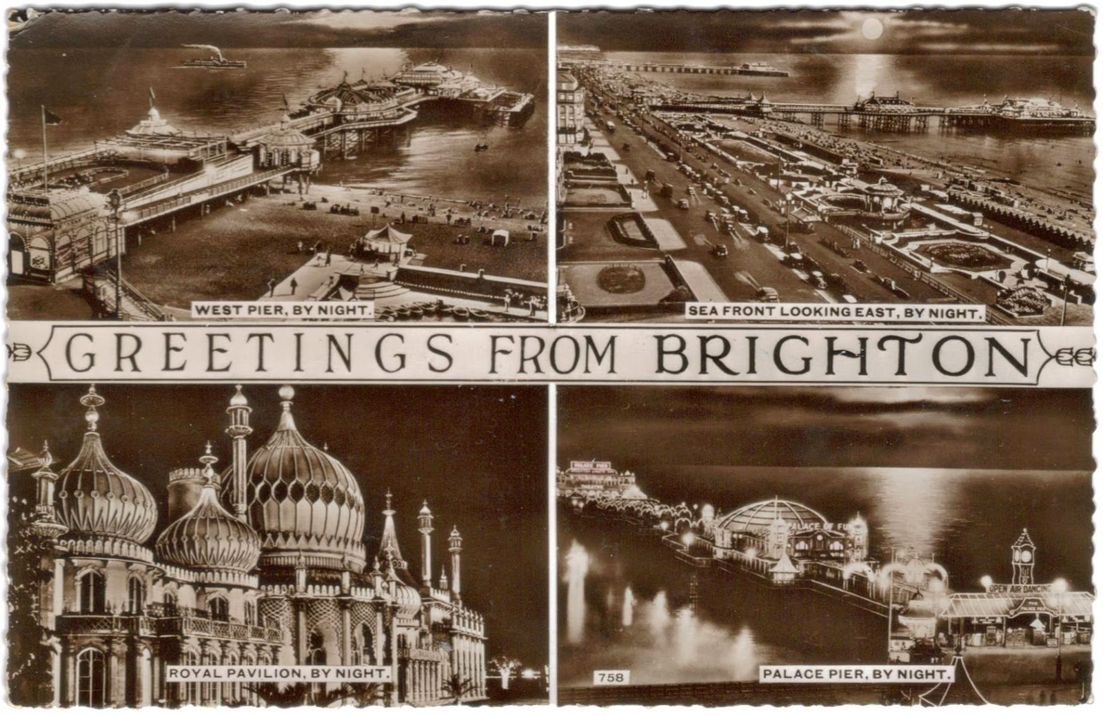 1950s postcard from Brighton