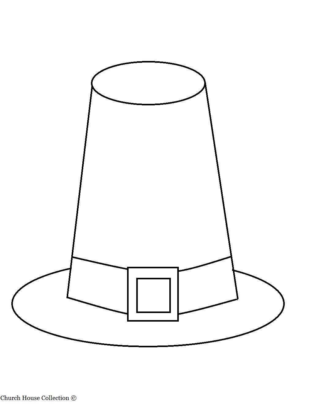 Superb image in printable pilgrim hats