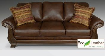 Decorating with eco-friendly leather choices is win-win for this Mom!