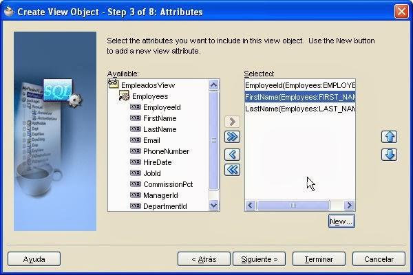 seleccion attributes entity