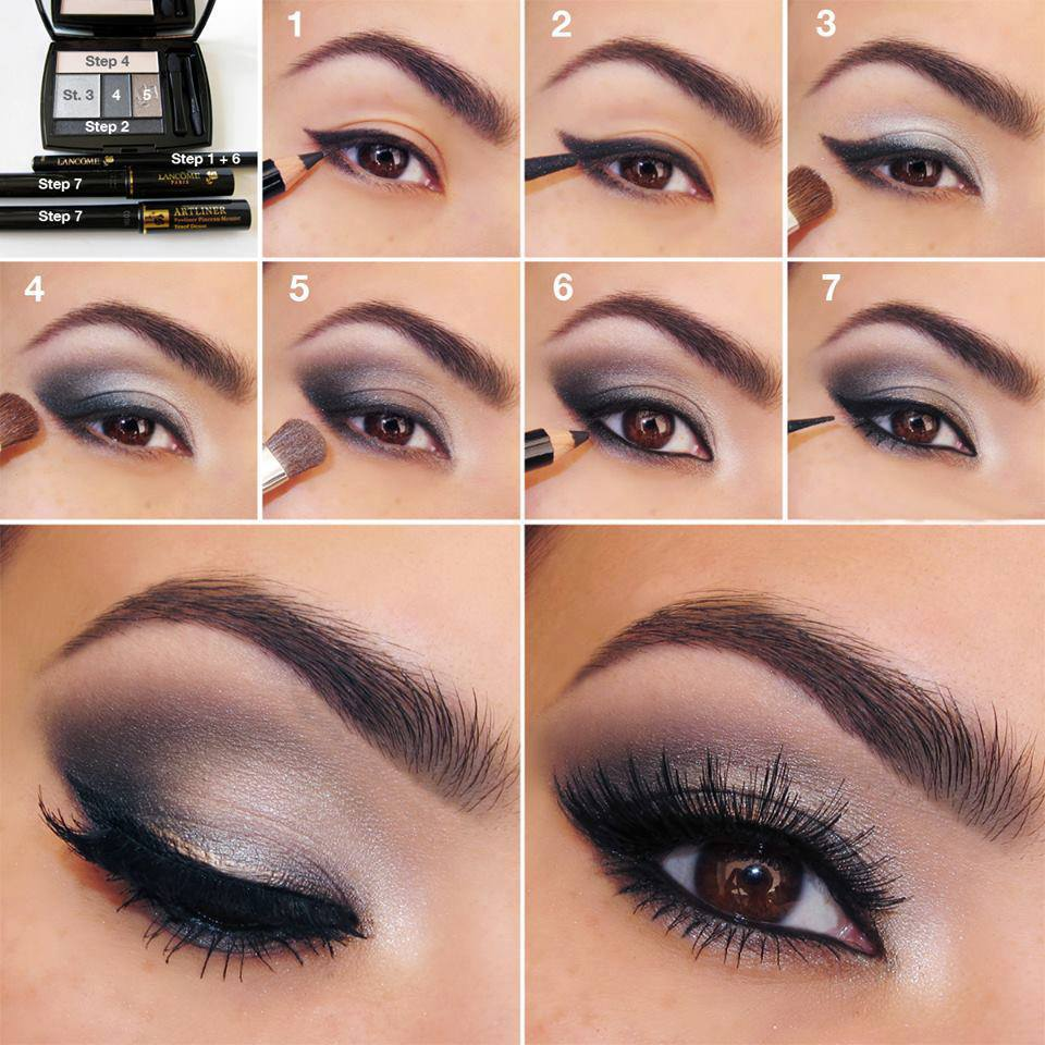 Дневной макияж со стрелками пошаговое фото