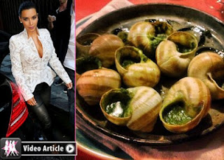 Kim Kardashian Snail Dinner in French