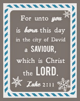 image for Luke 2:11 bible verse about Jesus the Christ birth by the funky felter