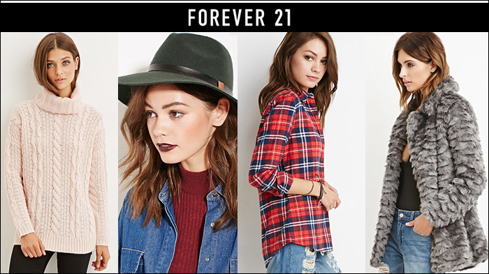 black friday 2015, black friday deals, forever 21, gifts under $25, free shipping, plaid shirt, faux fur, fedora