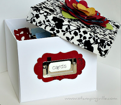 Decorated Stampin' Card Keeper by Stampin' Up!