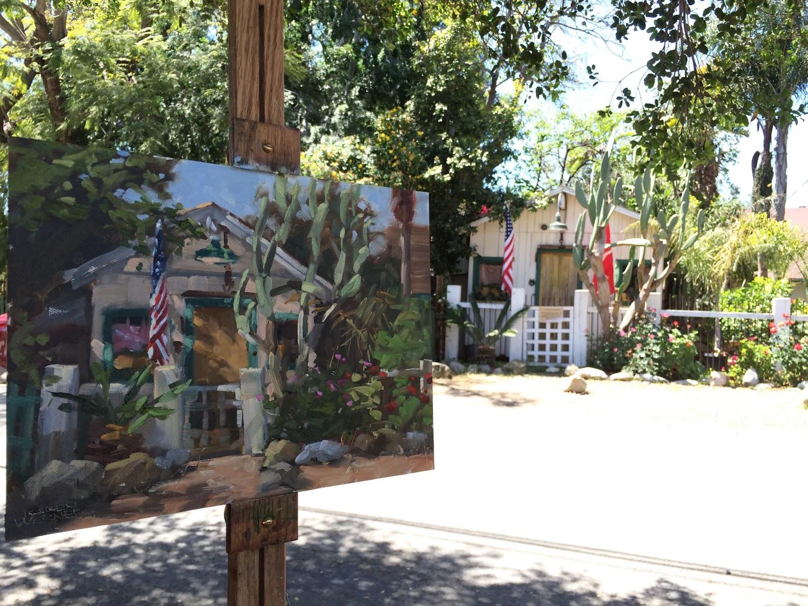 karen werner fine art los rios cottage a plein air oil painting
