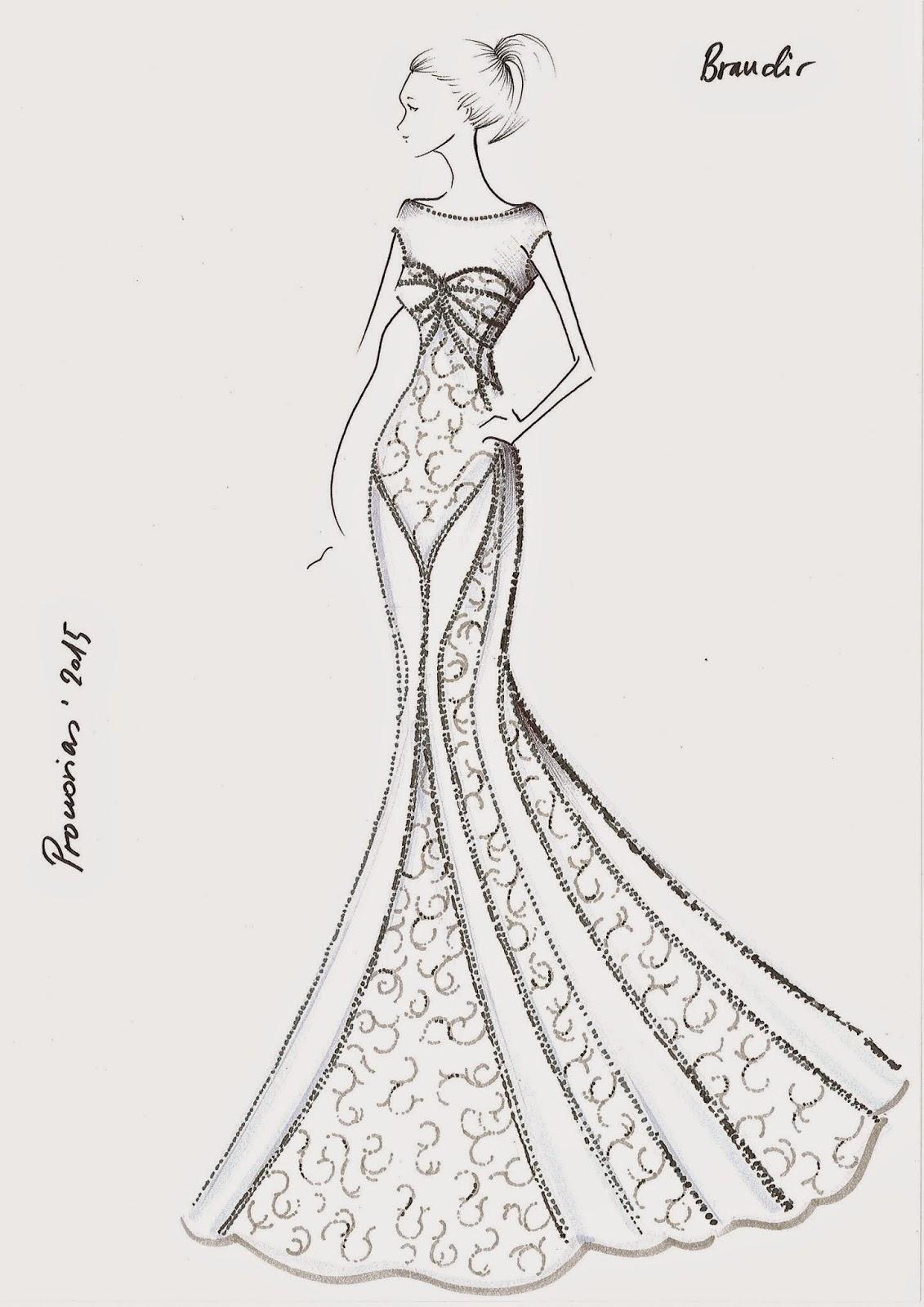 boceto vestido novia pronovias