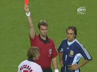expulsión Beckham