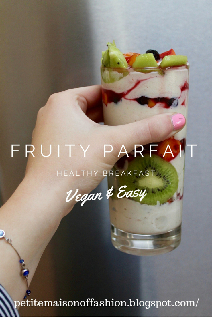 Vegan Banana Nice Cream Tofu Parfait - a great healthy breakfast