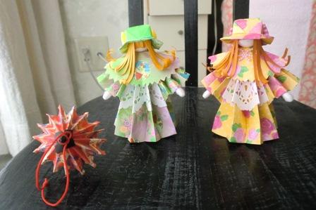 バラ 折り紙:折り紙 人形-yotiyotikirara.blogspot.com