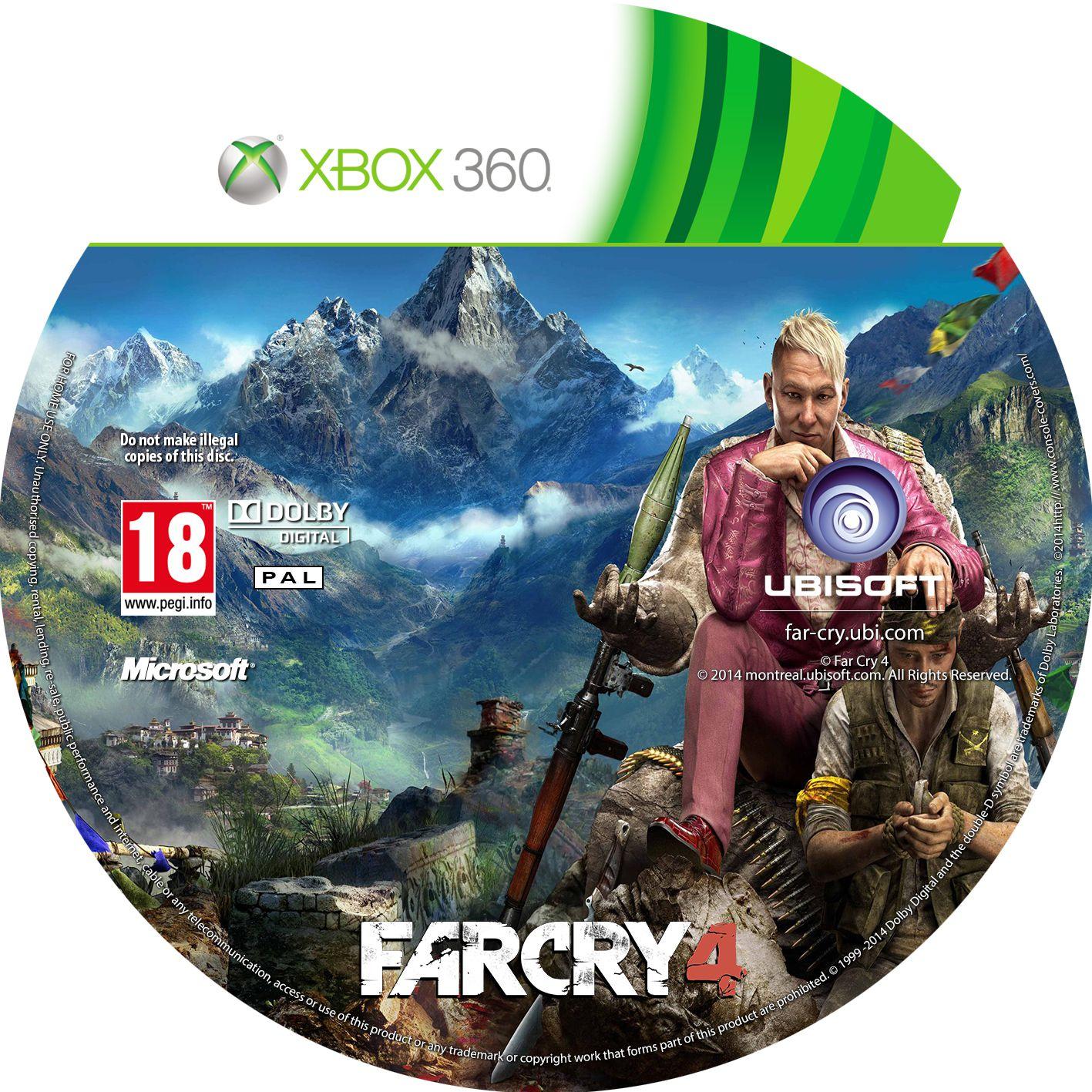 Label Far Cry 4 Xbox 360
