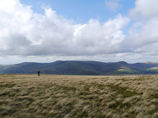 The fabulous prospect of the Howgill Fells from West Baugh Fell