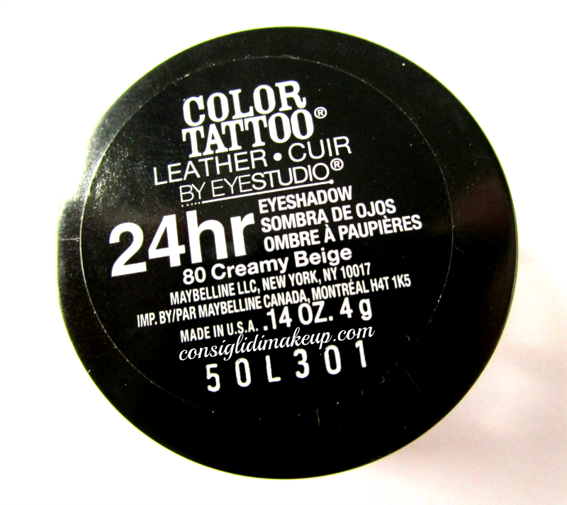 Review: Color Tattoo 24Hr in 80 Creamy Beige - Maybelline New York