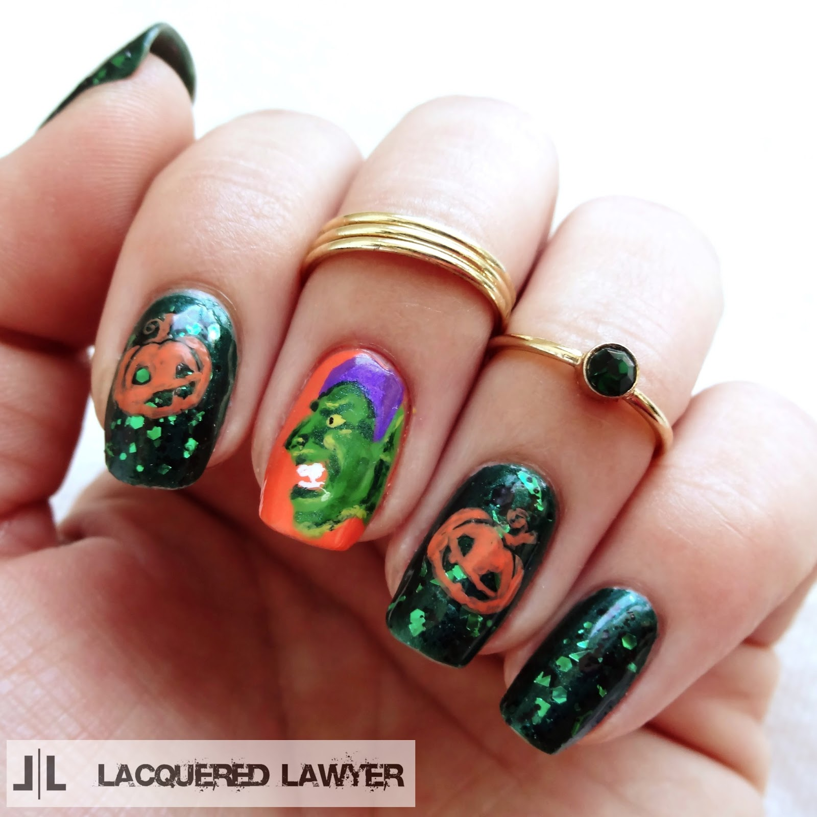 Green Goblin Nail Art