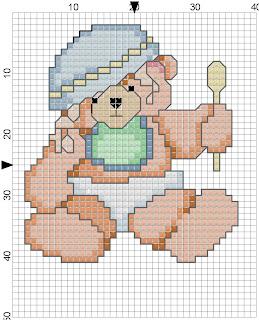 ursinho trapalhão para babete