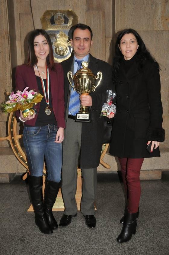 Стефан, Гергана и Камелия на церемонията по награждаването