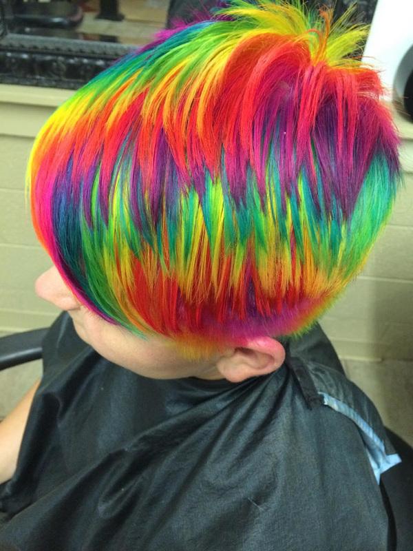 Short rainbow hair apologise, but