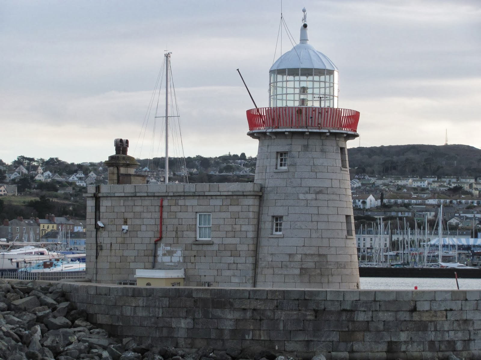 East Pier Lighthouse in Howth, Co. Dublin, Ireland