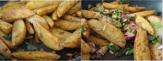 Butter Masala Potato Wedge Recipe