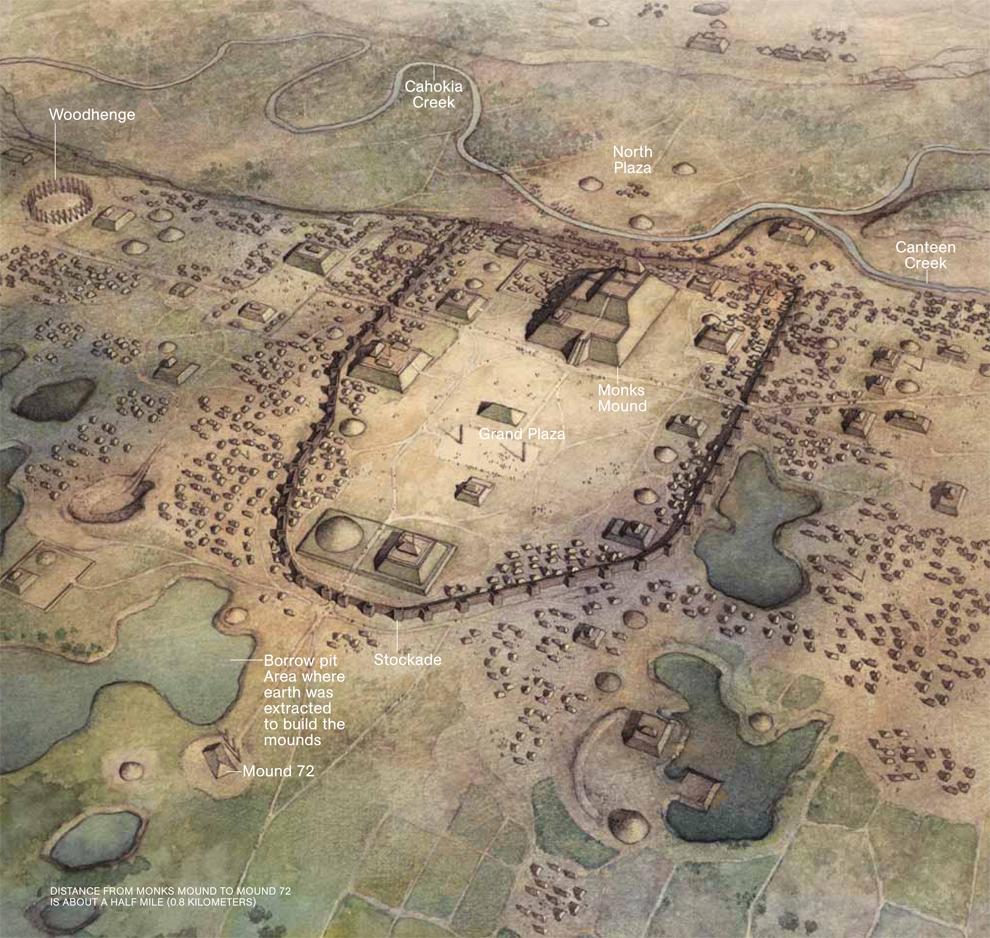 cahokia a pre historic native american city click to embiggen