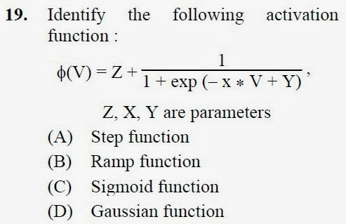2012 December UGC NET in Computer Science and Applications, Paper III, Question 19