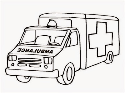 coloring pages of an ambulance