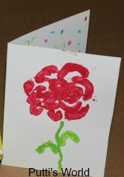 Kids Flower Spring Crafts Stamping Celery