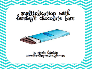 photo of Hershey's multiplication math freebie Teaching With Style