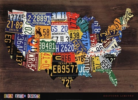 usa license plate map