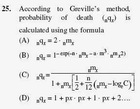 2012 June UGC NET in Population Studies, Paper II, Question 25