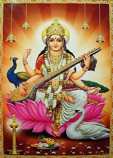 Saraswati, Consort of Brahma.