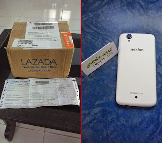 FOTO: Unboxing Nexian Journey 1 Android One Putih Mi438S