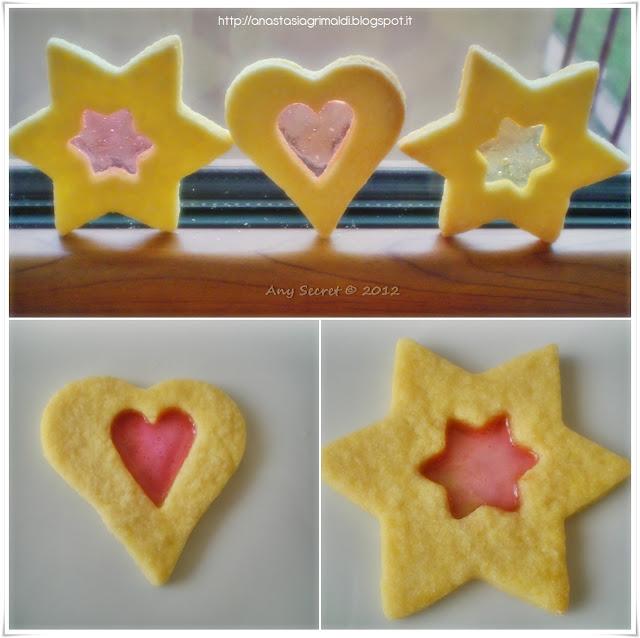 biscotti di vetro, con un cuore trasparente...