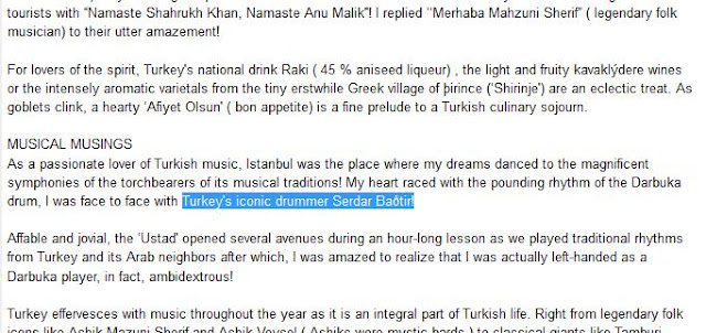 Serdar,Bagtir,darbuka,india,iconic drummer
