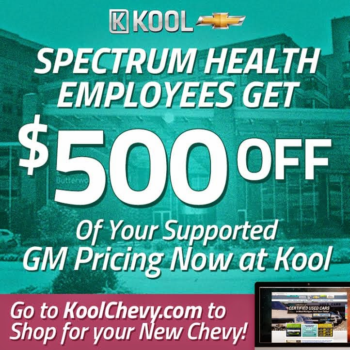 Spectrum Health Employees Get Discount at Kool Chevrolet